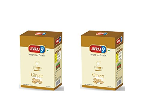 Jivraj 9 Instant Tea Premix (10 Sachet Box) Ginger