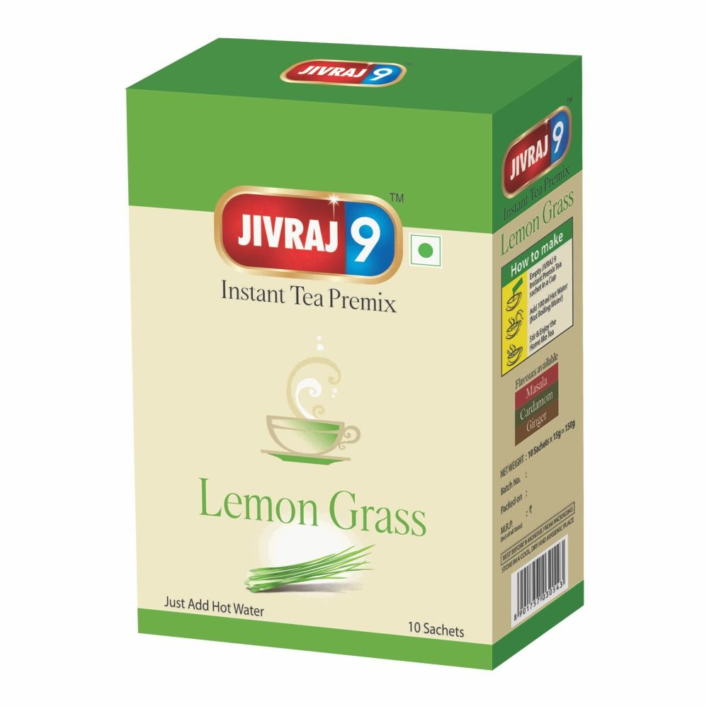 Jivraj 9 Instant Tea Premix (10 Sachet Box) Lemon