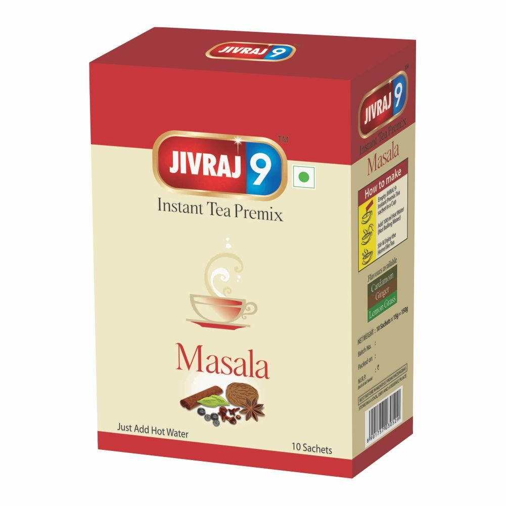 Jivraj 9 Instant Tea Premix (10 Sachet Box) Masala