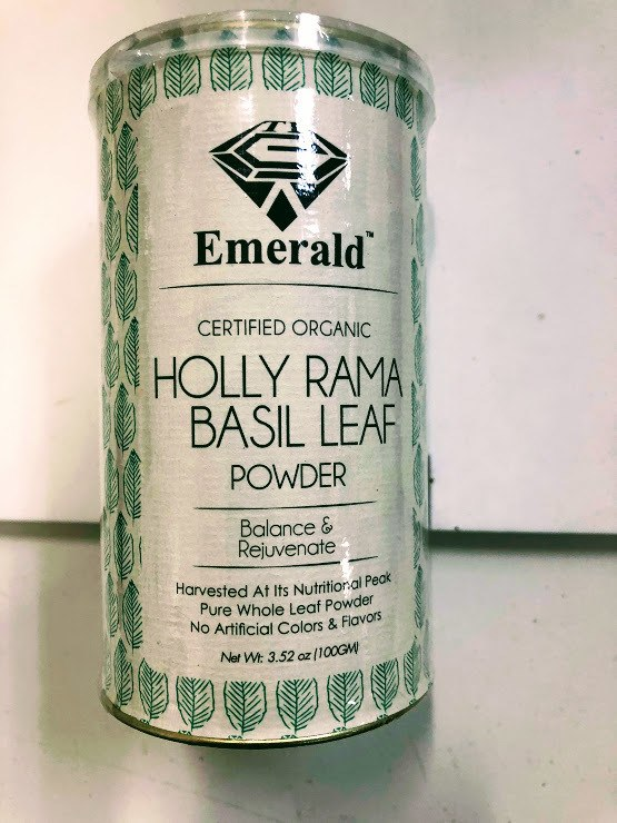 Emerald Basil Leaf Rama Powder