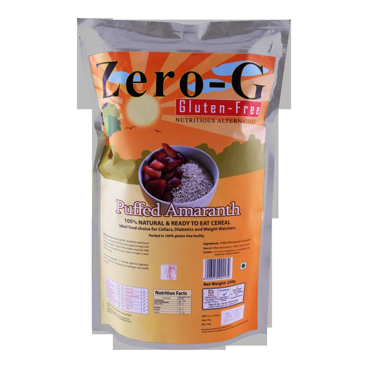 Zero-G Puffed Amaranth