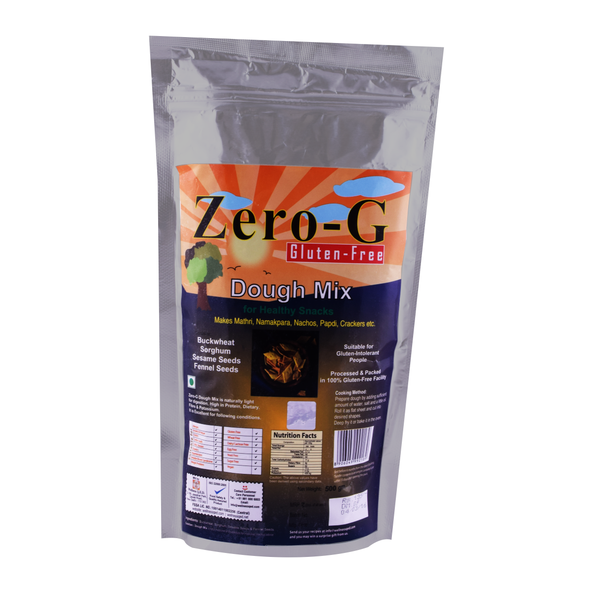 Zero-G Dough Mix for Healthy Snacks